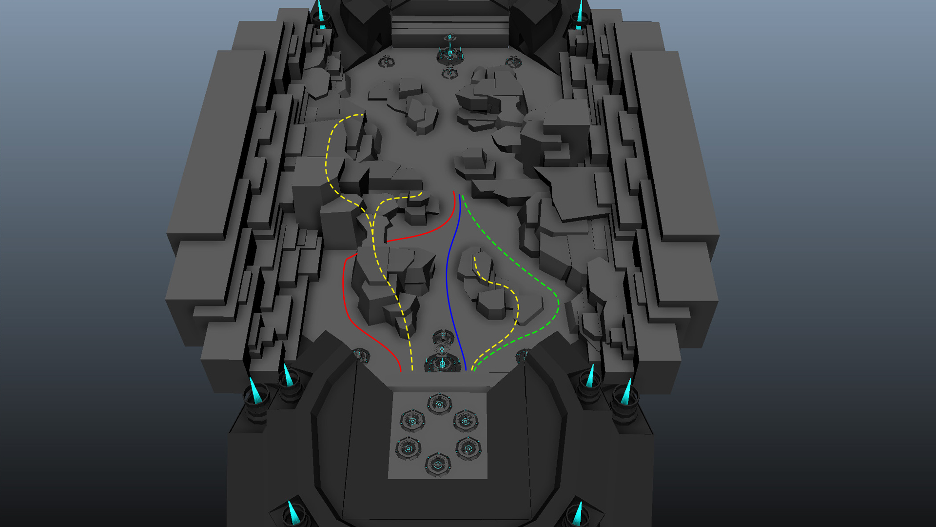 Bound Tactics, früher Level Design Prototyp