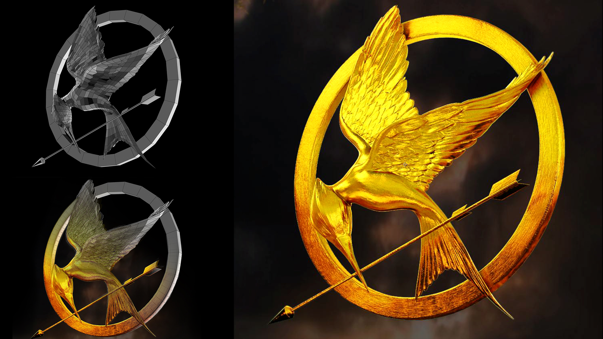 Tributes of Panem logo modeling for a German commercial